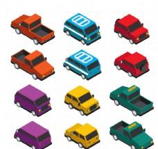 彩色立体车辆