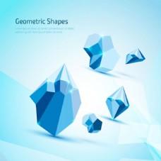 藍色幾何形狀