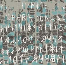 史前文化远古文字体矢量图