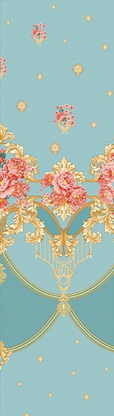 提花花卉纹样