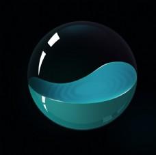 立体质感水球