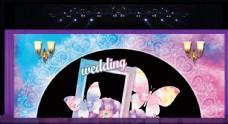 粉色 鹿 婚庆 背景 婚礼