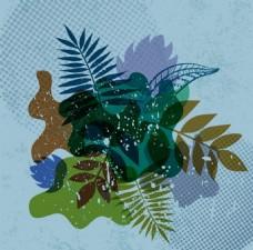 绿色的大自然ai矢量元素