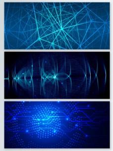 蓝色梦幻信息科技背景