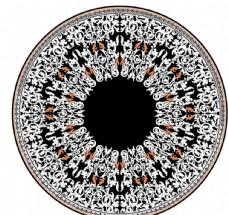 卷草纹圆盘