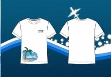 沙滩景色t恤