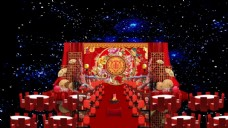 中式婚礼舞台效果图