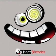 卡通生日搞怪表情