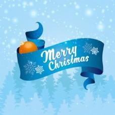 白雪皑皑的圣诞彩带背景