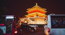 西安钟楼夜景