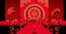中式婚礼舞台背景布置
