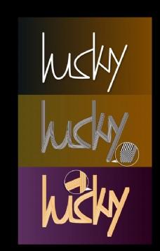 Lucky 英文字体设计
