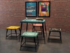 咖啡厅餐桌3d建模