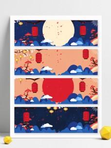 中国风新春年货节banner背景