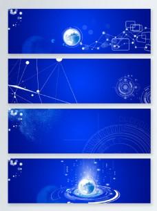 蓝色信息互联网科技背景图