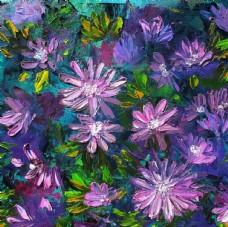 手绘 花卉 艺术 水彩 油画