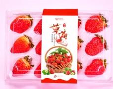 草莓标签贴