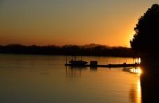 昆明湖霞光