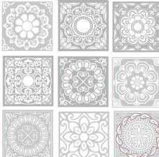 中国古典花纹边框底纹