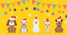 圣诞狗狗卡通形象