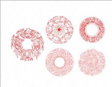 复古花纹圆形