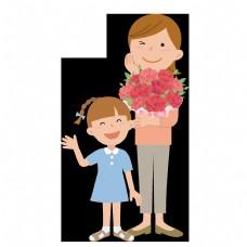 通用节日多彩卡通风活动促销三八妇女节PNG免抠