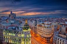 欧洲城市建筑鸟瞰图