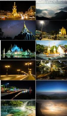 延时拍摄泰国自然人文美丽风光
