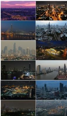 泰国曼谷城市日景夜景延时摄影
