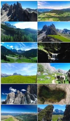 实拍阿尔卑斯山美丽自然风光