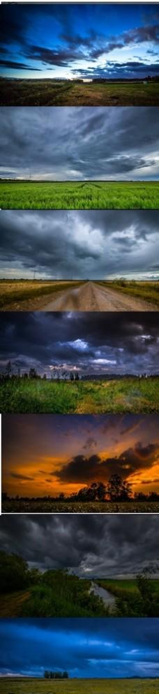 云层暴风雨自然景观实拍视频