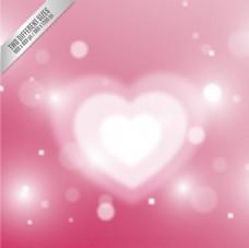 情人节白色心脏背景