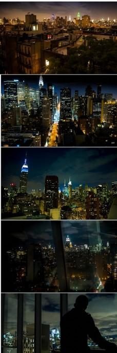 高清城市夜景延时摄影实拍视频