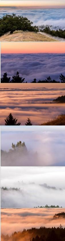 延时摄影云海高山日出云层夕阳