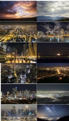 高清延时拍摄都市辉煌灯光夜景
