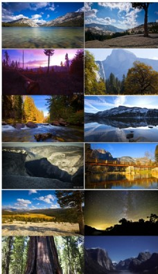 高清延时摄影优胜美地国家公园