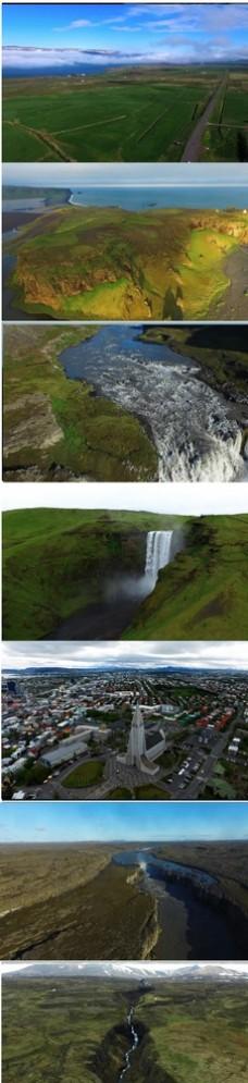 4K冰岛航拍美丽自然风光