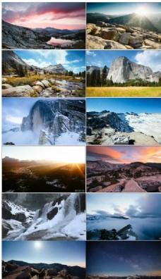 实拍约塞米蒂国家公园自然景观