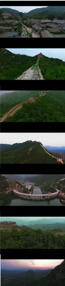 4K震撼唯美长城航拍周边风景