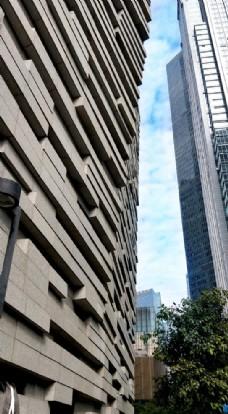广州图书馆建筑外观局部特写