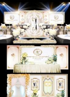 咖加白韩式婚礼效果图