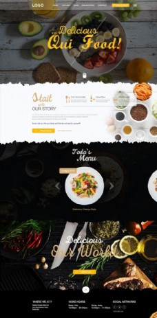 国外美食网页设计