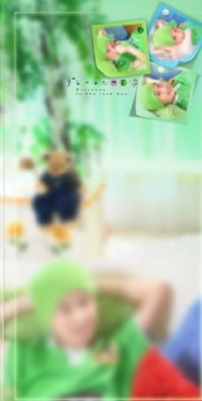 儿童 写真 摄影 模板 素材