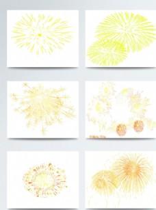 春节烟花黄色图案合集