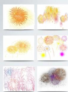 春节烟花多彩色图案合集