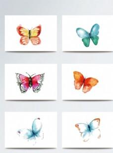彩色可爱蝴蝶矢量素材
