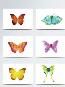 彩色唯美蝴蝶矢量素材