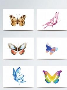 彩色唯美时尚蝴蝶素材