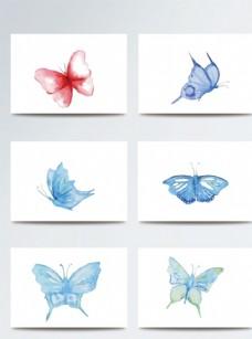 彩色水彩风蝴蝶素材