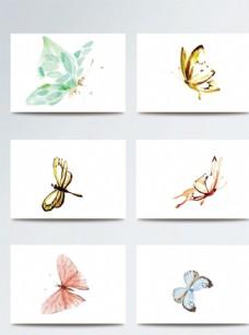 卡通彩色蝴蝶插画素材